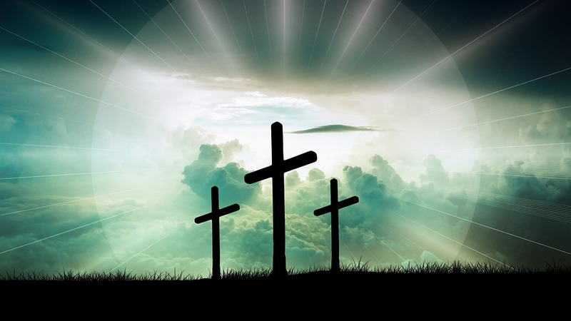 cross and bright light  - Faith Rests on a Solid Foundation